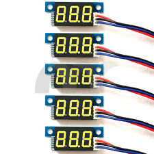 5x Yellow LED Panel Meter Mini Lithium Battery Digital Voltmeter DC 3.3V - 30V