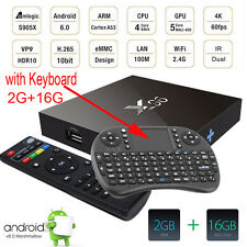 Hot Sale 4K X96 S905X WIFI Bluetooth Android 6.0 16.1 2G/16G Tv Box+Keyboard