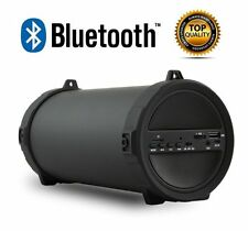NEW BLUETOOTH PORTABLE SPEAKER WIRELESS BASS STEREO BLACK PC TABLET RECHARGEABLE