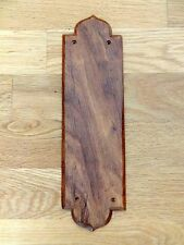 10 ROSEWOOD  FINGER DOOR PUSH PLATES FINGERPLATE WOODEN WOOD