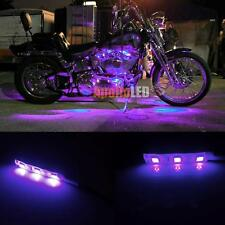 2x 5050-SMD Purple LED Strip Lights For Motorcycle Under Glow Accent Lighting