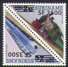 Surinam 2004 Trains/Steam/Rail/Railways/Transport/Surch t-b pr (n35230)