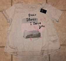 NWT Abercrombie Girls Large Dear Shoes I Love You Short Sleeve Top - LAST ONE!