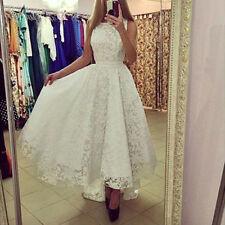 NT Women Formal Evening Party Ball Gown Prom Bridesmaid Long Lace Floral Dress