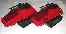 2008 Cobra H.I.S.S. (RED Tank) (LOT OF 2) - GI Joe vehicle - 100% complete - (K)