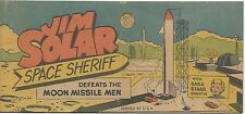 JIM SOLAR SPACE SHERIFF DEFEATS MOON MISSILE MEN VITAL WISCO GIVEAWAY PROMO F+