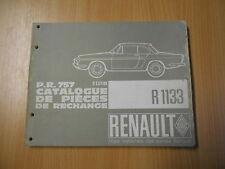 Teile Katalog Catalogue de pieces Renault R1133 Caravelle Floride (1108ccm-52PS)