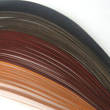 100 Quilling Autoadesivo Strisce di carta in tonalità di marrone-larghezza 5mm