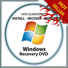 Windows 7 32 & 64 bit Home Premium install reinstall recovery DVD Disc Support