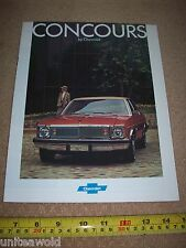 Chevrolet Concours USA American Car Brochure 1976 Catalogue mint condition