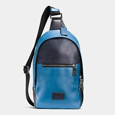 COACH MENS 72035 sport calf LEATHER SHOULDER CROSSBODY PACK BACKPACK NWT $350