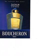 PUBLICITE  2000   BOUCHERON  parfum homme JAIPUR