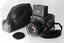 【Excellent++】 Mamiya M645 w/SEKOR-C 80mm f/2.8 ,Leather case, Hand strap, Japan