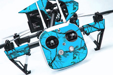 DJI Inspire 1 Quadcopter/Drone, Transmitter, Battery Wrap/Skin | Blaze Camo Blue