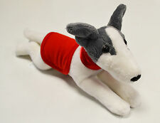 Greyhound Wearing a RED Coat and Collar - Soft Toy