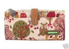 "NWT Lily Bloom Large Travel Wallet Clutch Forest Owl 9"" x 4.5"" Fox SHIP INT""L"