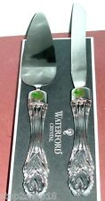 Waterford Bridal Cake and Knife Server 2 Piece Set Crystal/Stainless New $310