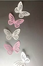 x 28 Edible Rice Paper/Wafer Butterfly Cake Toppers 14 Baby Pink & 14 White