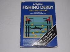 ATARI 2600 VINTAGE 1980  FISHING DERBY CIB VIDEO GAME!! L@@K SEE!