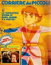 CORRIERE DEI PICCOLI n°  6 del 1983 con Big Jim, Flo, Chobin + POSTER e INSERTO