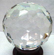 Faceted Crystal Ball Clear 110mm 4.2 in NO STAND OR GIFT BOX!!  USA Seller