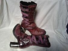 RARE New Rock limited edition leather boots biker, goth, cosplay
