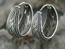 1 Paar Ohrringe CREOLEN 925er Silber Zopf Ohrschmuck Keltisch celtic Zopf