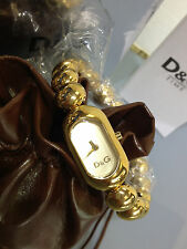 NEW  D&G DOLCE GABBANA  TIME COLLECTION  WOMEN'S  FASHION  GOLD WATCH  DW0228