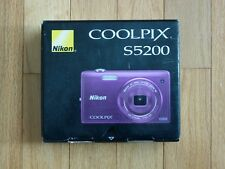 Nikon COOLPIX S5200 16.0MP Digital Camera - Plum