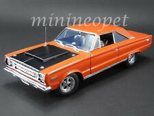 ACME A1806702 1967 67 PLYMOUTH GTX HEMI 1/18 DIECAST CAR BULLET ORANGE / BLACK