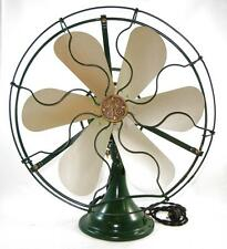 "Antique GE FULLY RESTORED 16"" Oscillating Fan Type AOU 2 Star 6 Blade Var Speed"