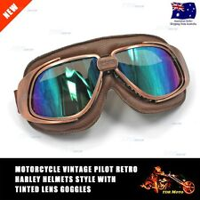 Aviator Pilot Cruiser Motorcycle & Bicycle Scooter Goggles Eyewear Tinted Lens
