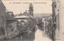 VITTEAUX 46 la brenne au pont de l'horloge canard coll aubertin timbrée 1913