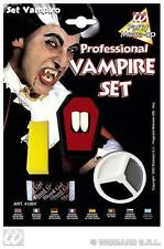 Dracula Vampire Make Up & Teeth Set Halloween Fancy Dress Kit