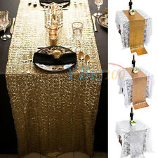 "Sequins Decor Wedding Party Christmas Dinner Table Runner Cloth Bling 108""x11.8"""