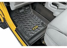 Bestop Front Floorliners; 2pc; Black; 97-06 Jeep Wrangler TJ; 51511-01
