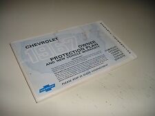 1967 1ST ED CHEVROLET/ CORVETTE/CAMARO/CHEVELLE/CORVAIR  PROTECTION PLAN/MANUAL