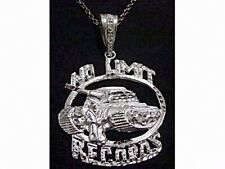 HUGE NEW No Limit Soldier Pendant Charm Records Jewelry Genuine Sterling silver