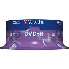 25 x VERBATIM DVD+R 4.7 GB (16x) 120min SPINDLE / CAKE BOX 43500 UK STOCK