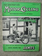MOTOR CYCLING 25.9.58. NORTON, JAMES,  jm