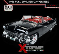 AUTOWORLD AMM1072 1:18 1956 FORD SUNLINER CONVERTIBLE BLACK LTD ED TO 1002PCS