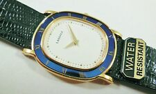 Lassale by Seiko Gold Tone Metal Blue 7N00-5080 Lizard Sample Watch NON-WORKING