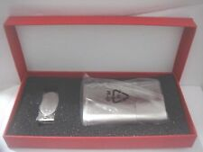 Stainless Steel Cigarette Tin Holder & a Stainless Steel Money Clipper Gift Set