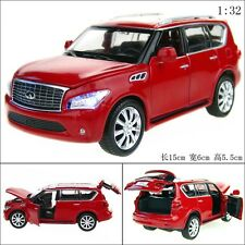 1:32 Infiniti QX56 Alloy Diecast Car Model Toy Vehicle Gift Sound&Light Red 2400
