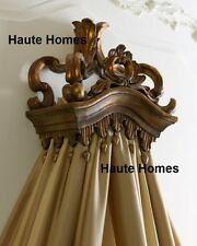 NEW Horchow BAROQUE Hand Crafted MAJESTIC Ornate Tassel Gold bed Crown Canopy