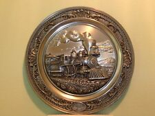 Bradford Exchange 4-4-0 American Standard Steam Locomotive Train Pewter plate