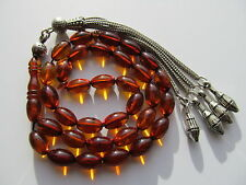 BERNSTEIN Butterscotch AMBER GEBETSKETTE PRAYER BEADS سبحة مسبحة