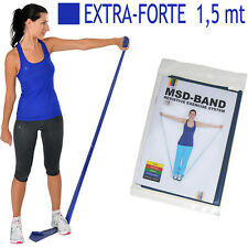 Msd FASCIA ELASTICA BLU 1,50 mt EXTRA FORTE Lattice Band Resistenza Fitness Yoga