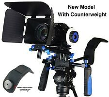 Morros DSLR Rig Movie Kit Shoulder Mount Rig with Follow Focus and Matte Box ...