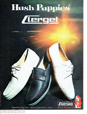 PUBLICITE ADVERTISING 056  1983   Clerget  chaussures homme Hush Puppies